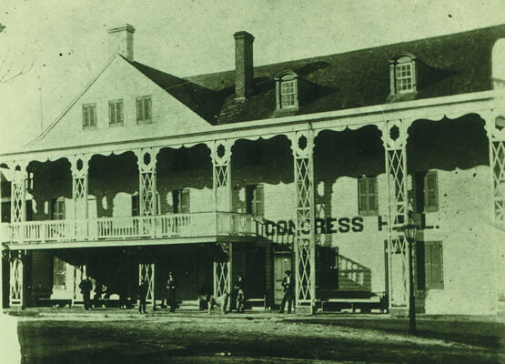 historic image of congress hall in the 1800s