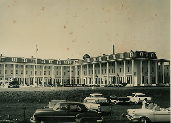 historic image of congress hall in the 1940s