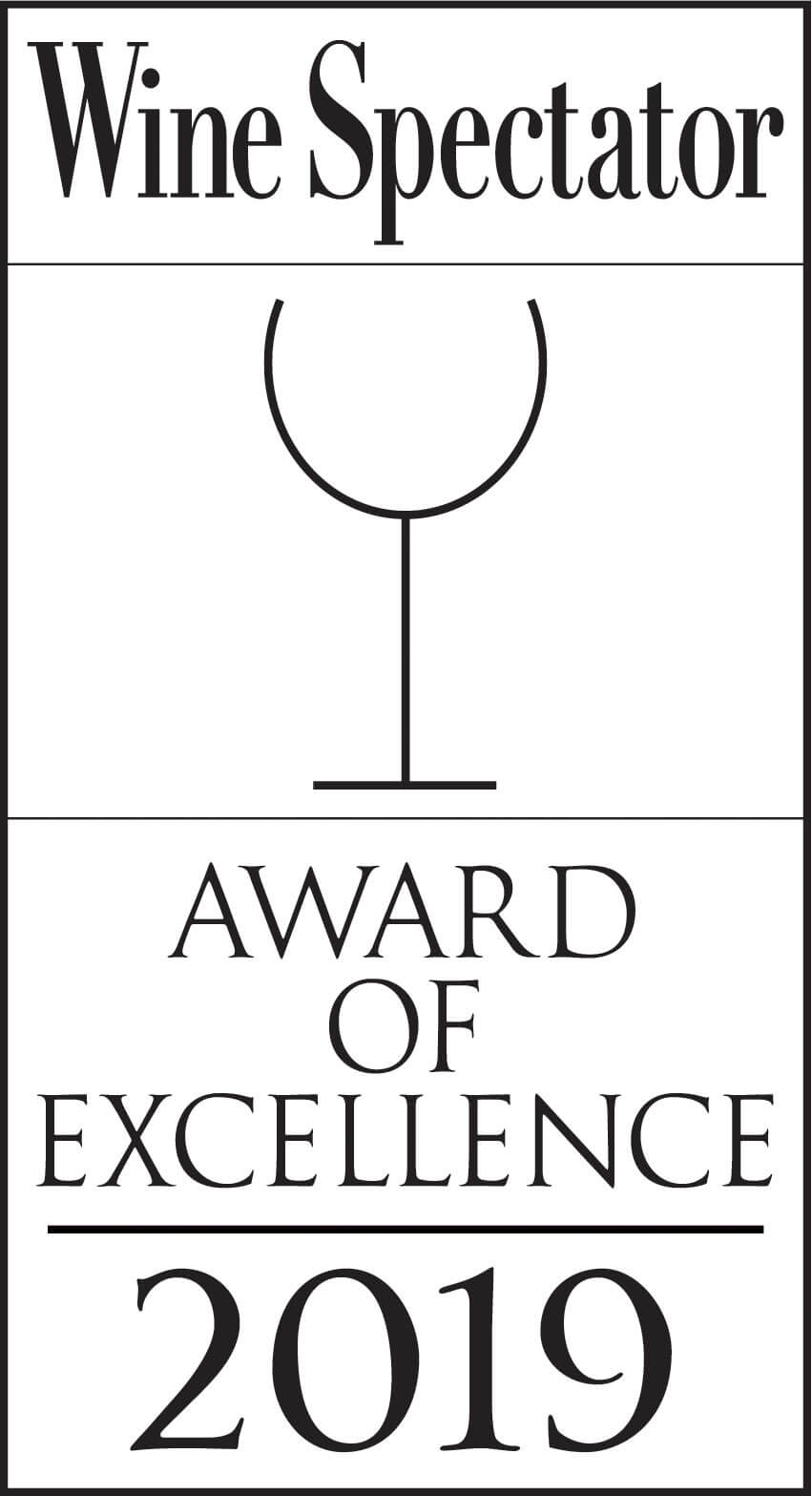 wine spectator award of excellence 2019 logo