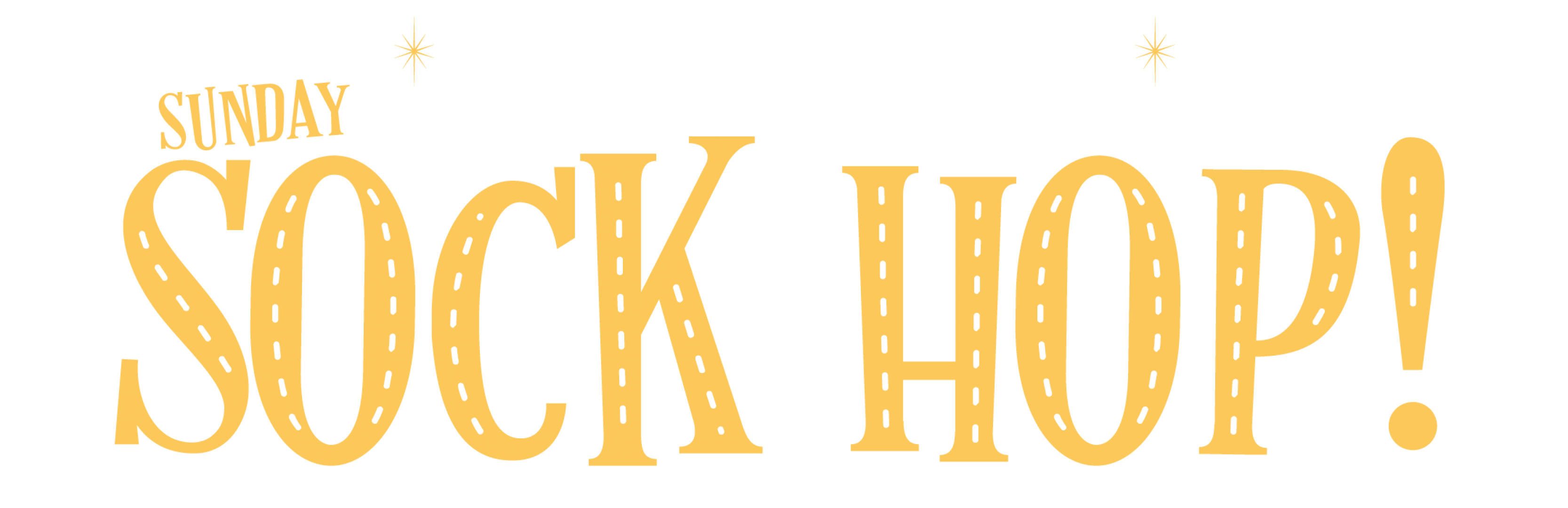 text that reads 'Congress Hall presents: Sunday Sock Hop!