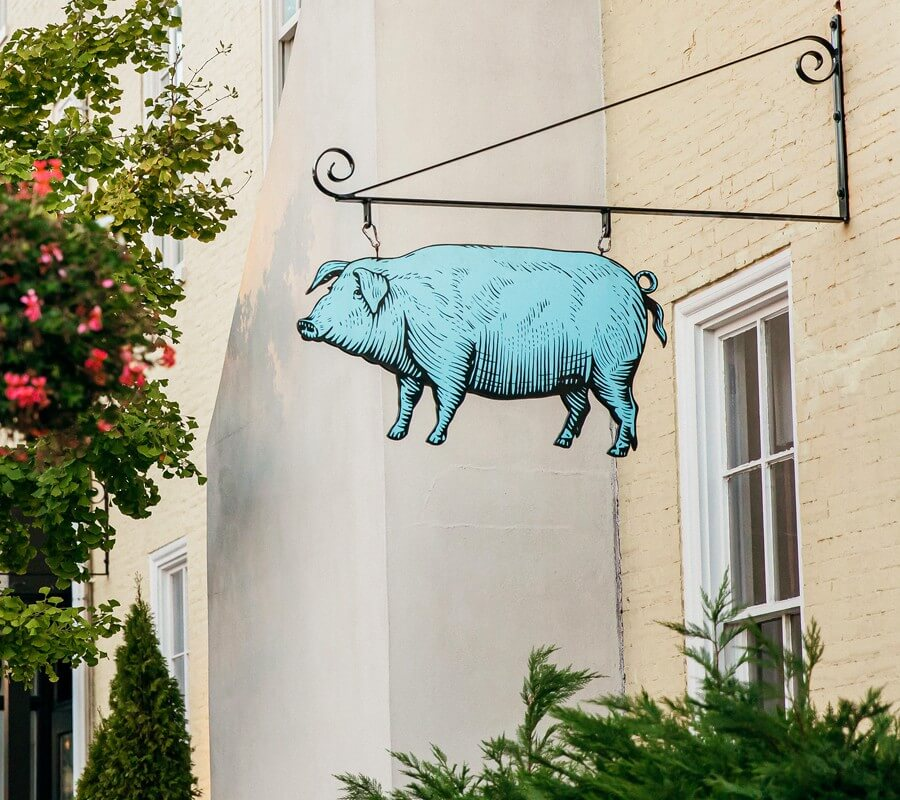 blue pig tavern sign