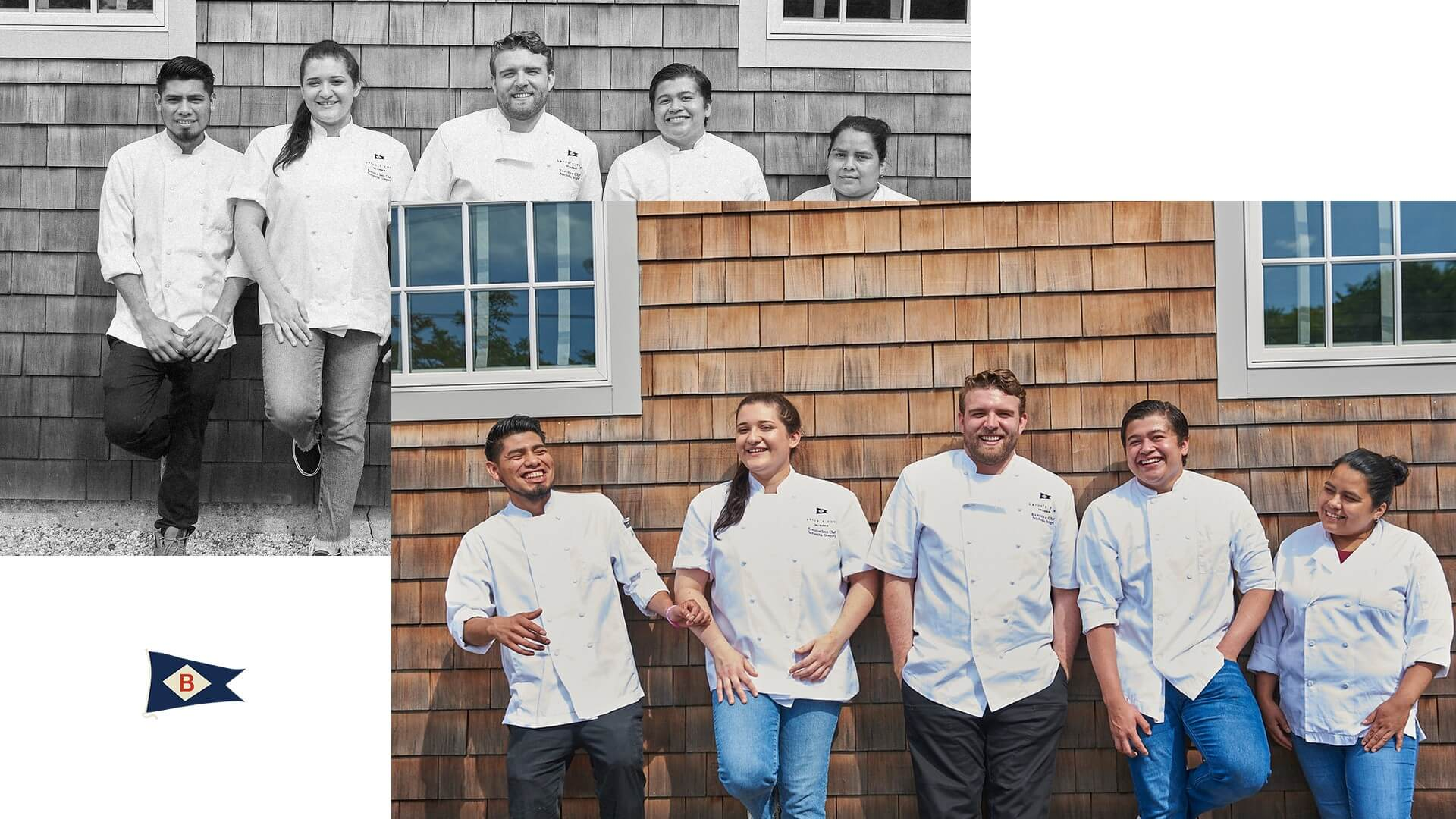 a group shot of the culinary team at baron's cove