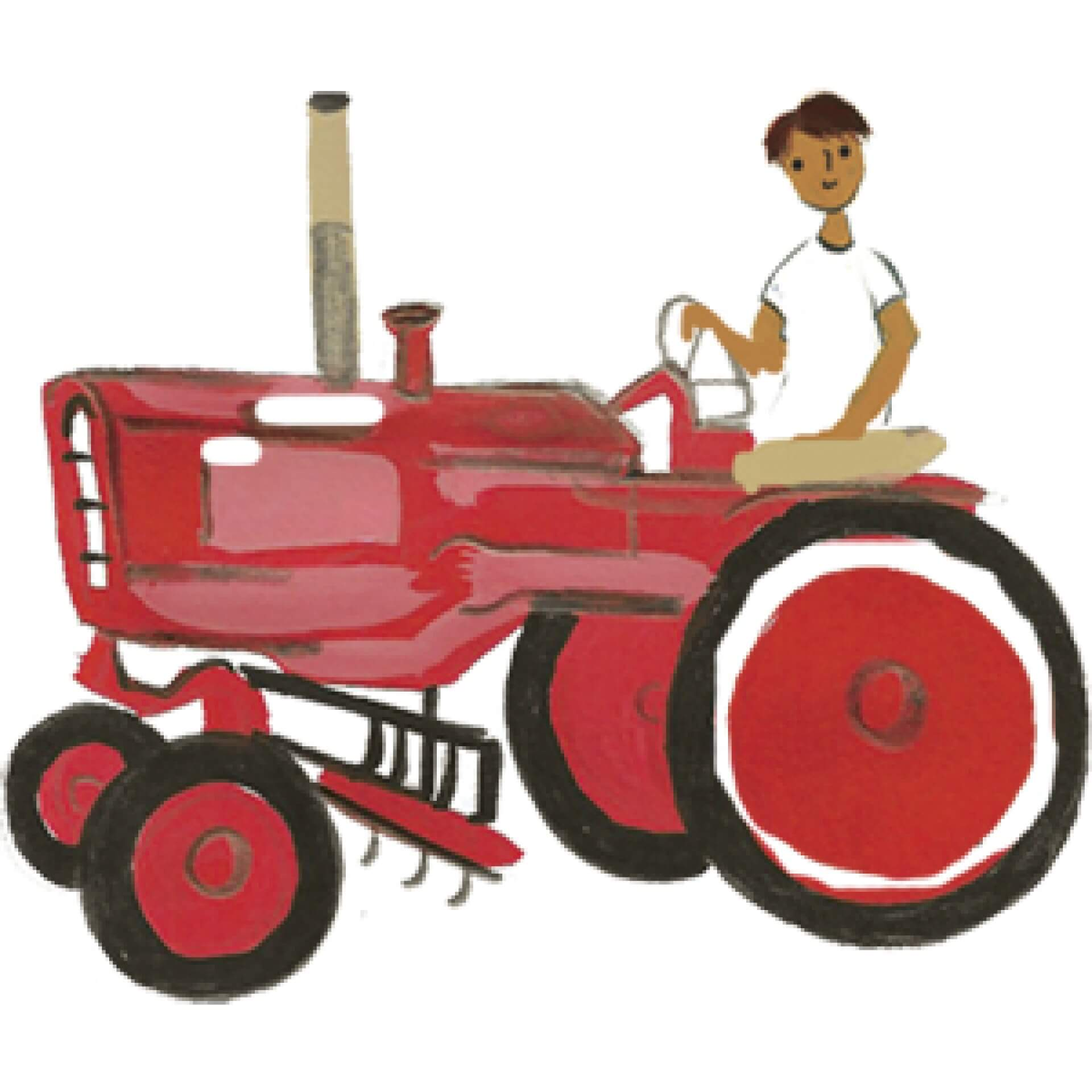 watercolor of a tractor