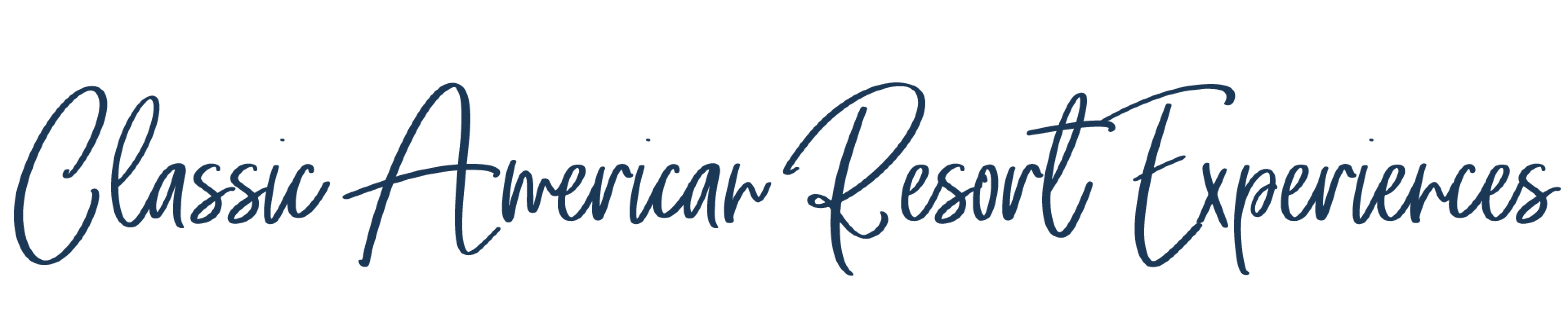 cursive text that reads 'Classic American Resort Experiences'