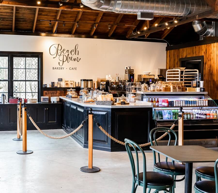 beach plum bakery and cafe counter and register