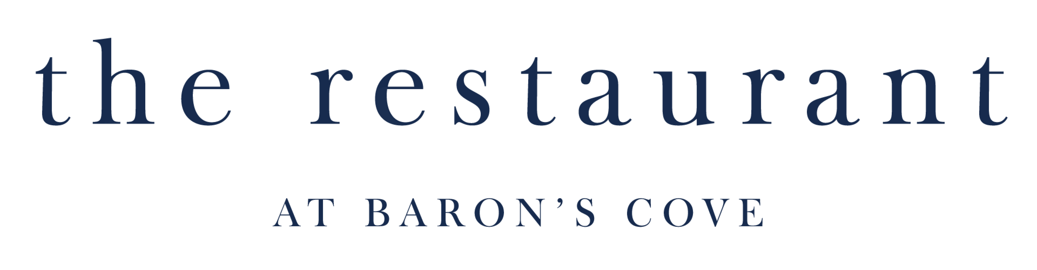 logo for the Restaurant at Baron's Cove